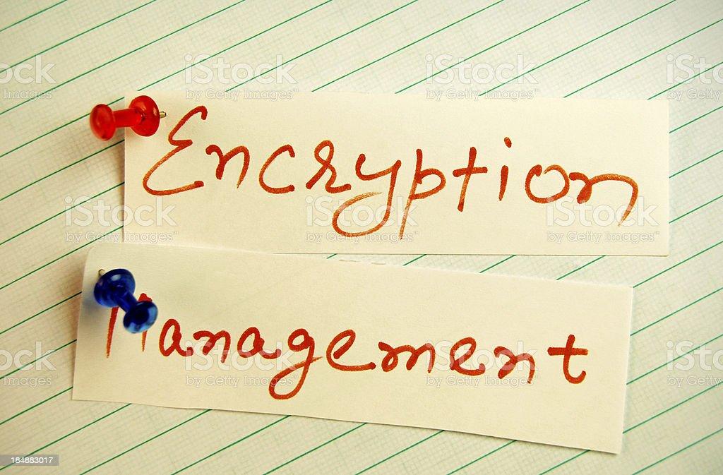 Encryption Management royalty-free stock photo
