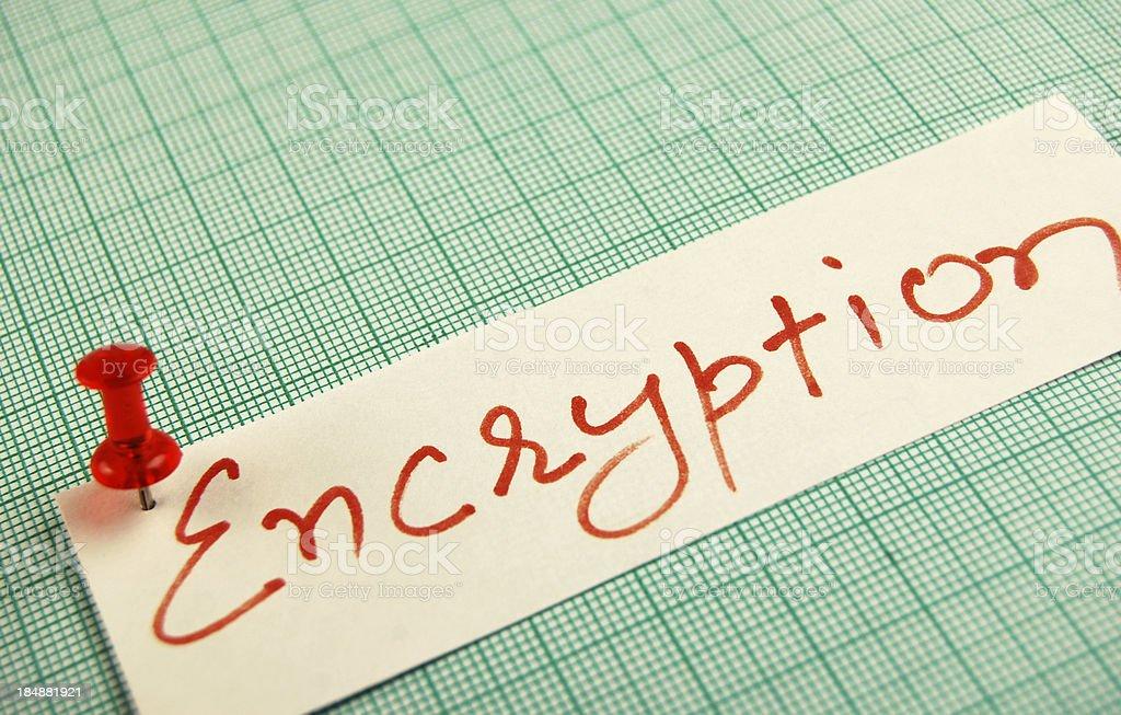 Encryption royalty-free stock photo