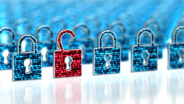 Encryption your data. Digital Lock. Hacker attack and data breach. Big data with encrypted computer code. Safe your data. Cyber internet security and privacy concept. Database storage 3d illustration on the white background Encryption your data. Digital Lock. Hacker attack and data breach. Big data with encrypted computer code. Safe your data. Cyber internet security and privacy concept. Database storage 3d illustration on the white background identity theft stock pictures, royalty-free photos & images