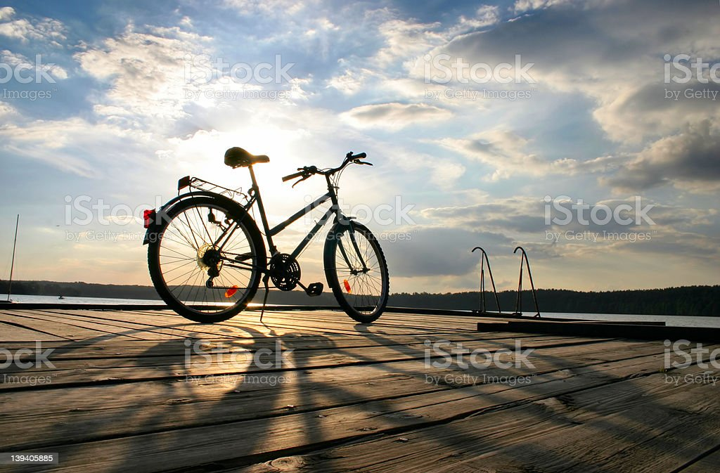 end of a bike trip #4 royalty-free stock photo