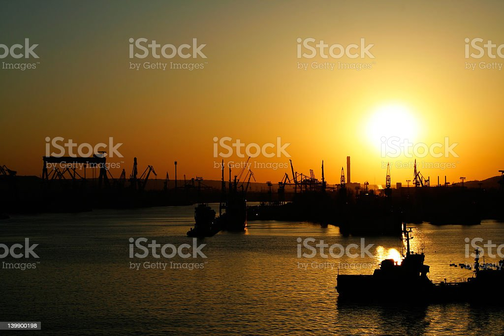 End of a busy day royalty-free stock photo