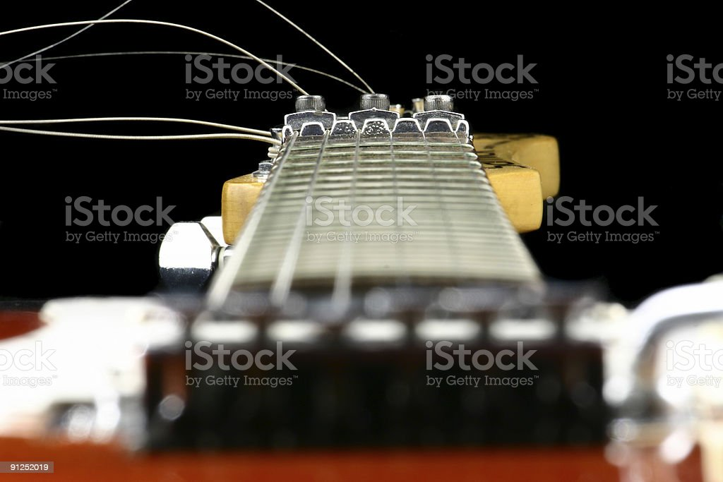 end of a guitar stock photo