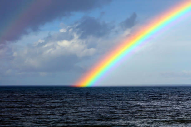 end of a rainbow - luck of the irish stock photos and pictures