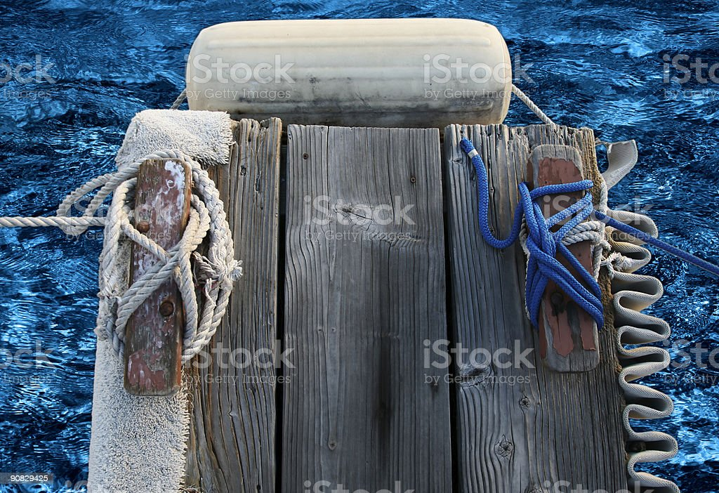 End of boat dock finger royalty-free stock photo
