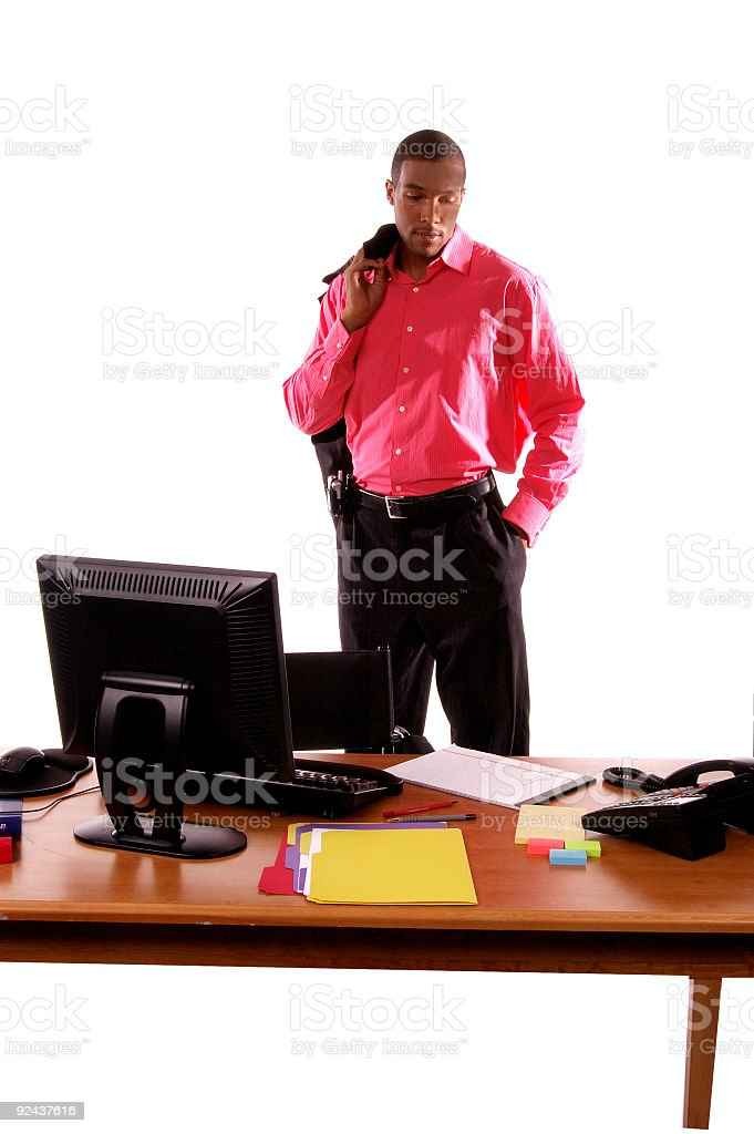 End of Businessmans Day royalty-free stock photo