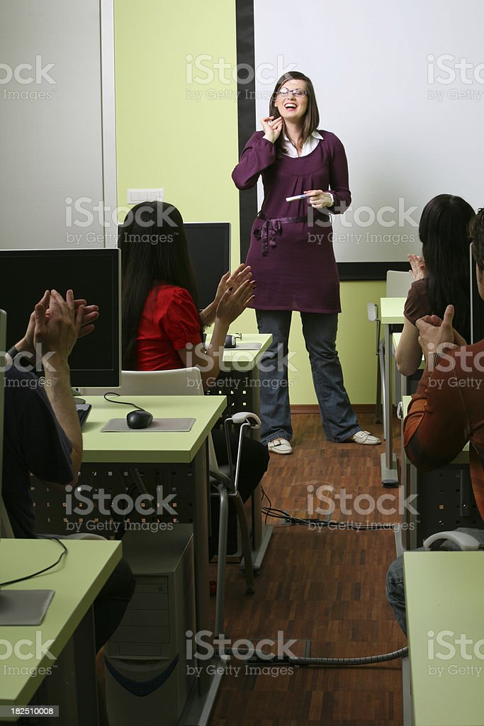 End of class royalty-free stock photo