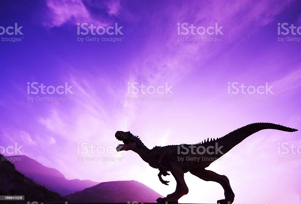 恐竜の終了 ストックフォト