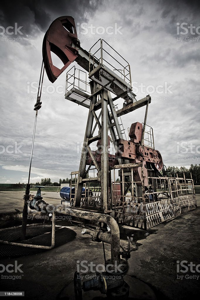 End of fossil fuel and global warming royalty-free stock photo