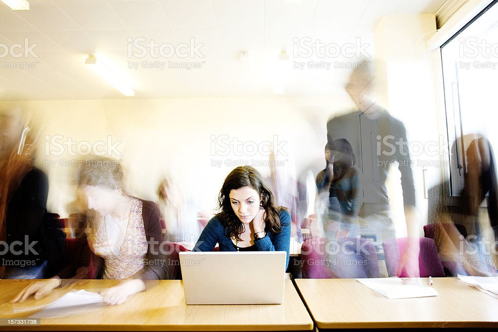 End of lesson royalty-free stock photo