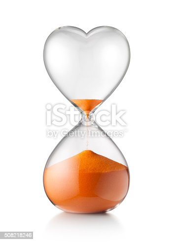 Hourglass in form of heart. Concept image.