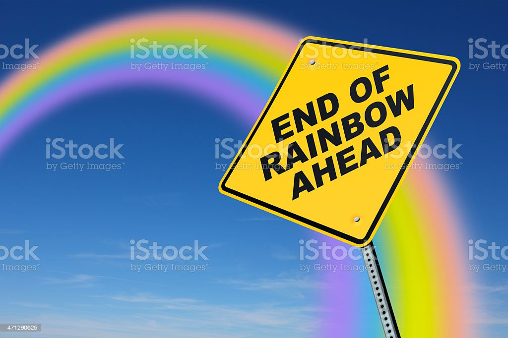 End of Raimbow royalty-free stock photo