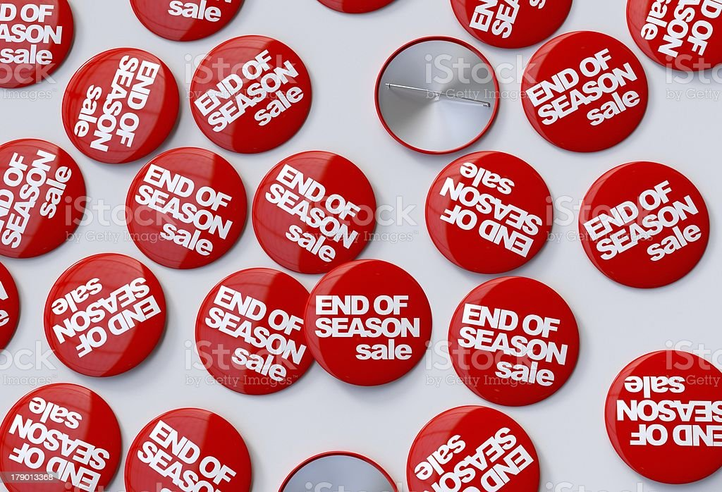 End of season sale pins royalty-free stock photo