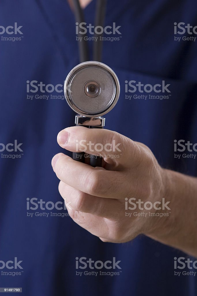 End of stethoscope royalty-free stock photo