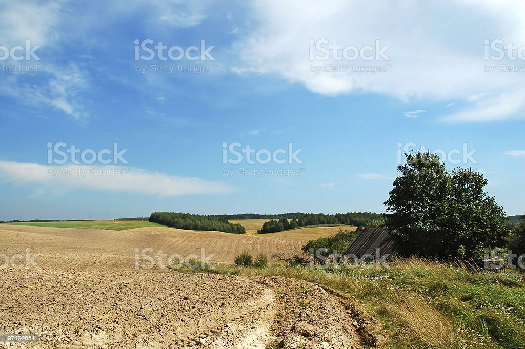 End of summer agricultural royalty-free stock photo