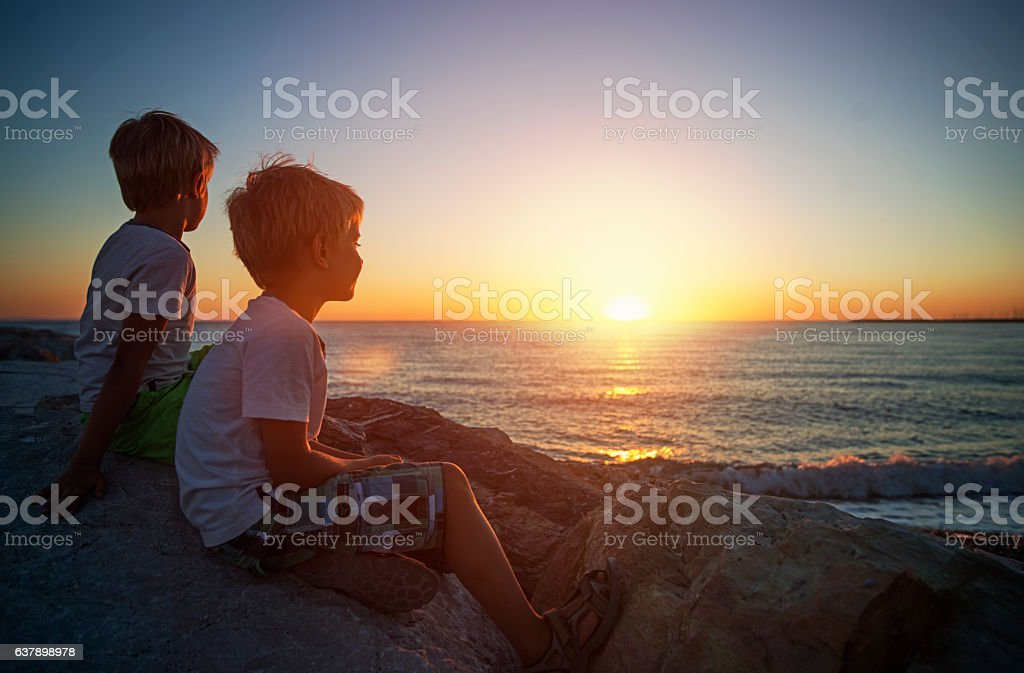 End of summer vacations stock photo