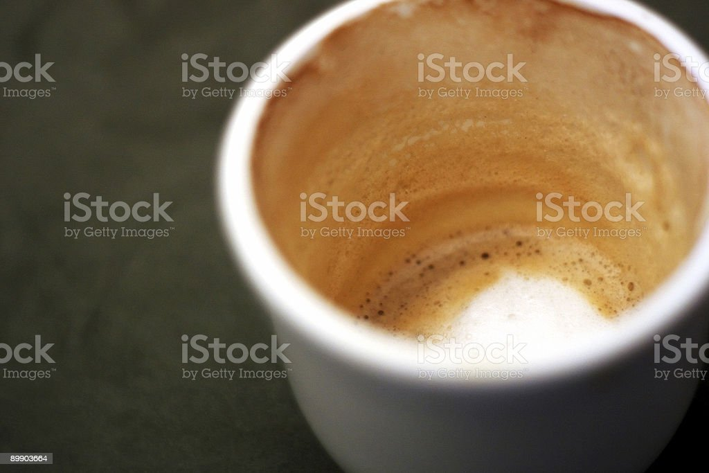 End of the Cappuccino royalty-free stock photo