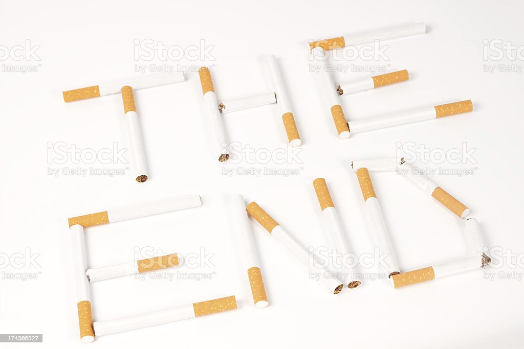 End of the cigarette royalty-free stock photo