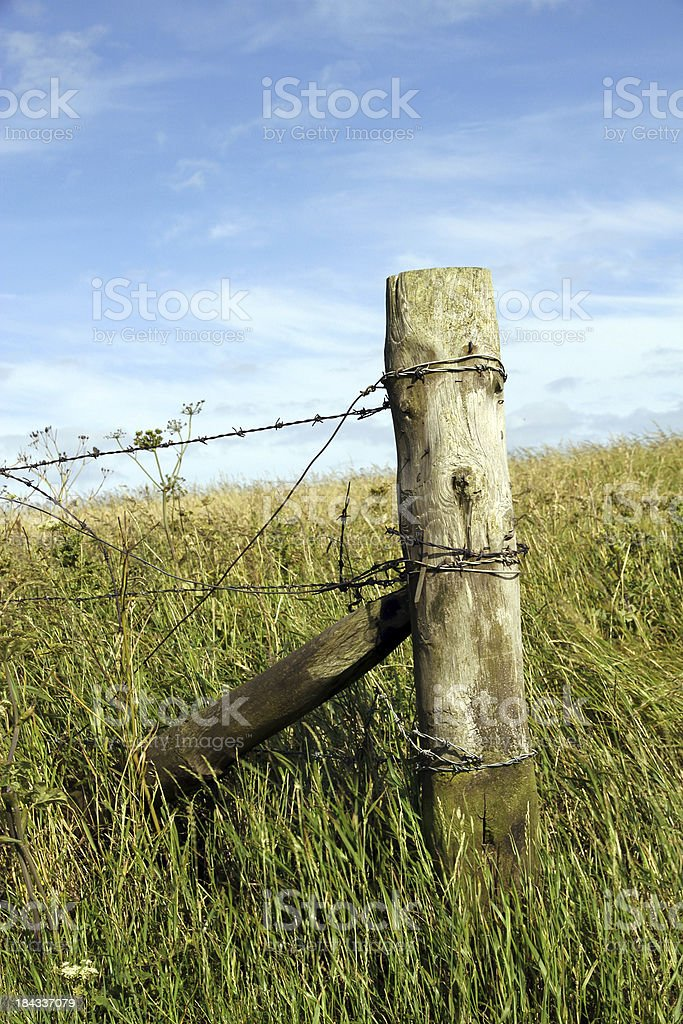 End of the Fence royalty-free stock photo