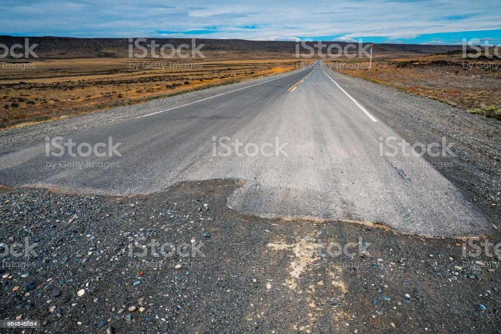 End of the gravel road royalty-free stock photo