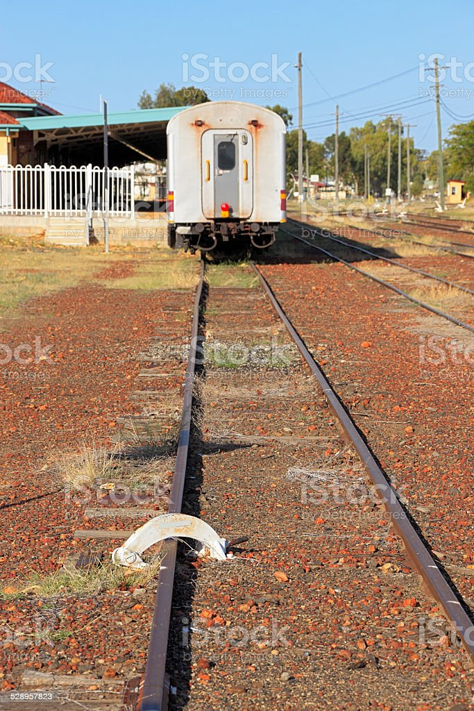 End of the line for passenger train stock photo