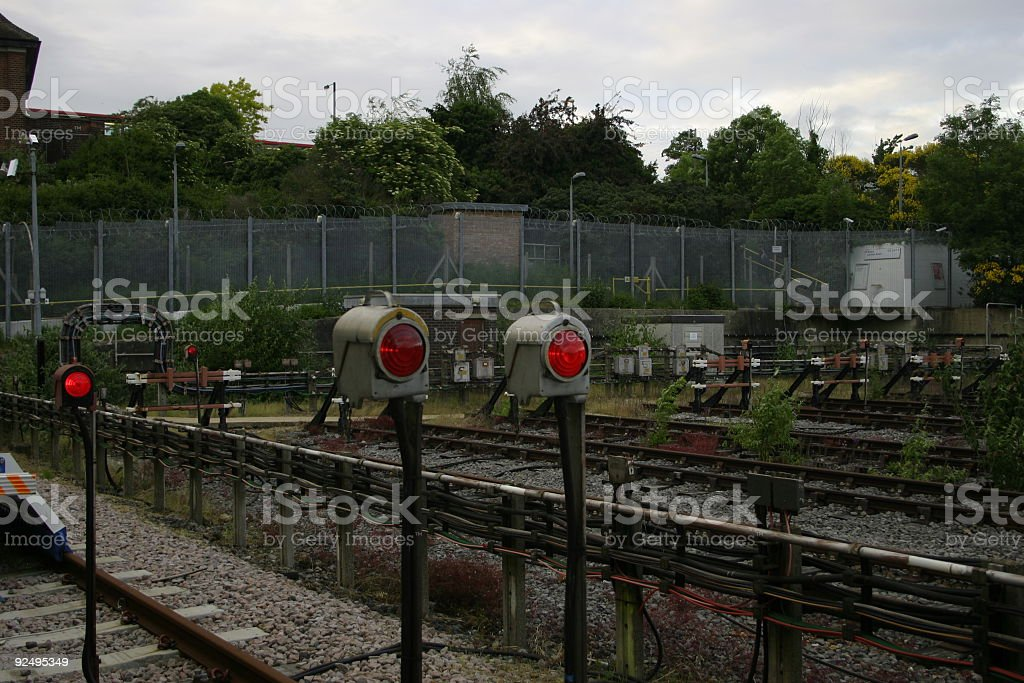 End of the line royalty-free stock photo