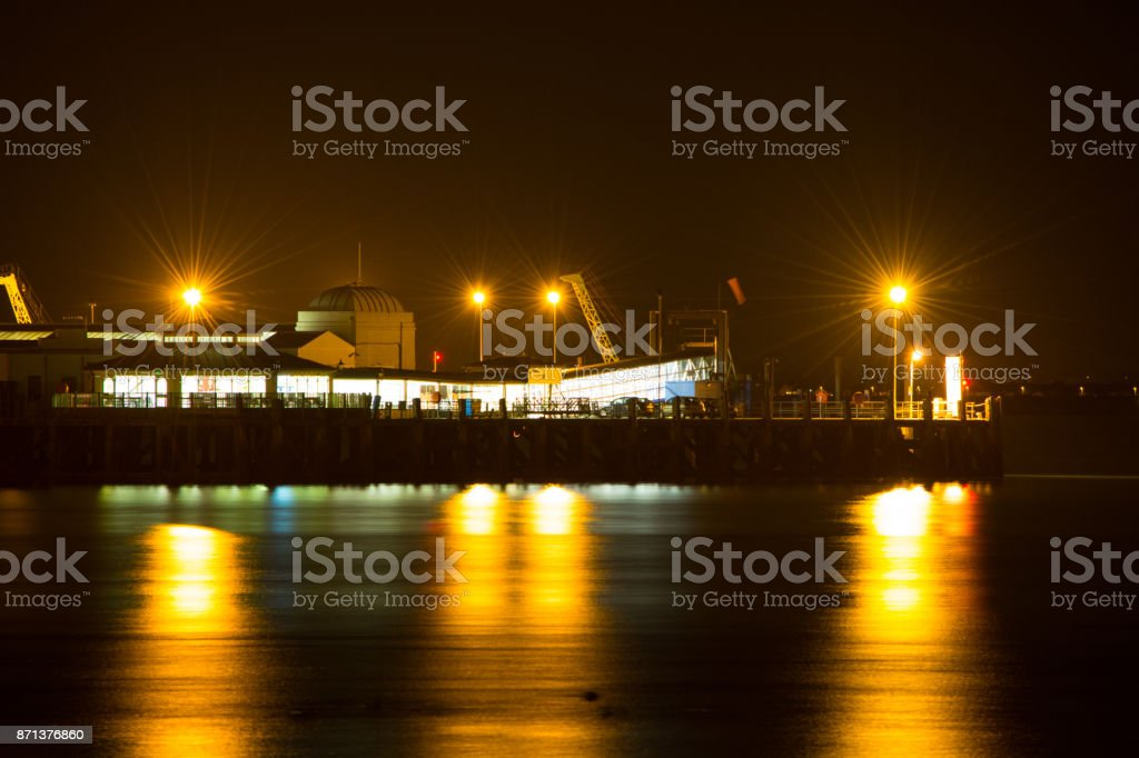 End of The Pier at Ryde - Isle of Wight stock photo