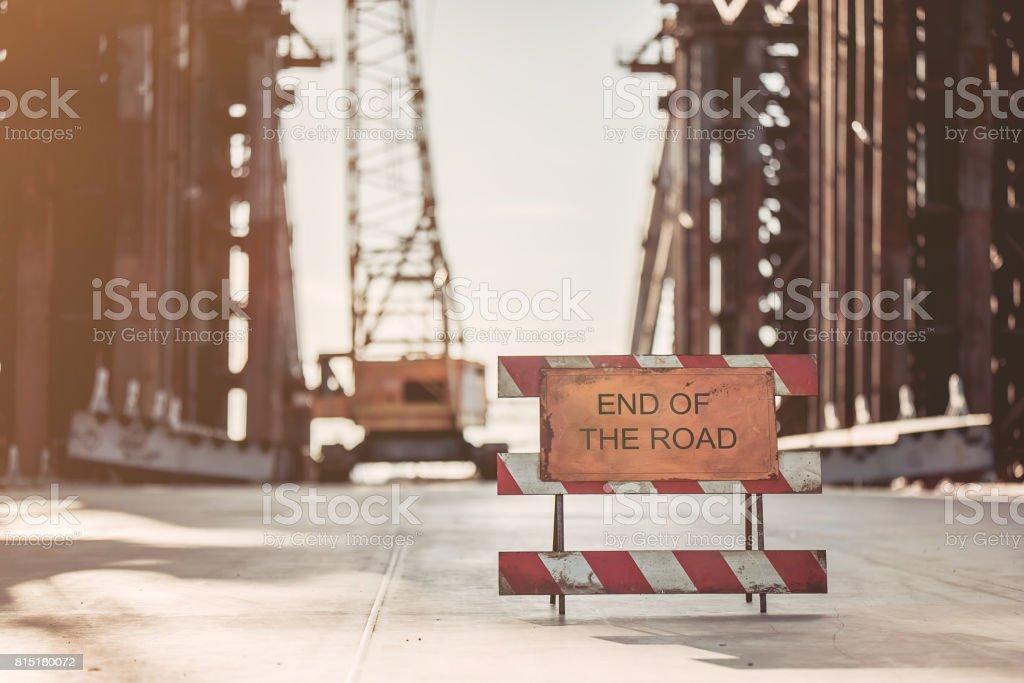 End of the road - foto de acervo