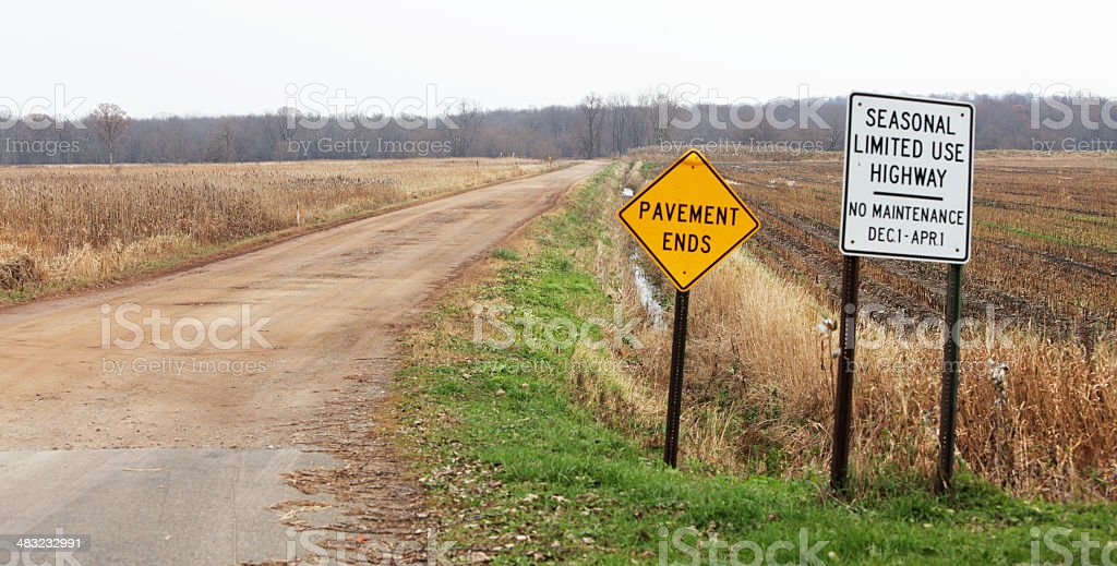 End of the Road Signs royalty-free stock photo