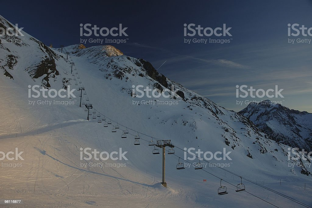 End of the ski day royalty-free stock photo