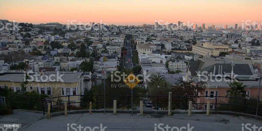 End of the Street viewpoint, San Francisco stock photo