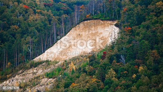 istock End of the summer season.River bank.The centuries have passed. 927267428