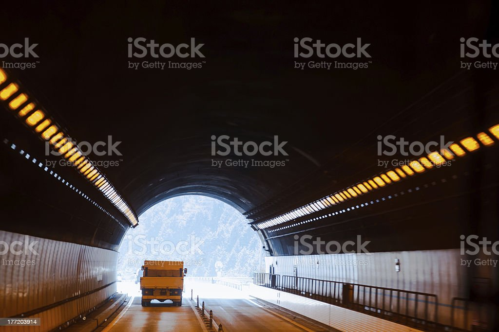 End of the tunnel royalty-free stock photo
