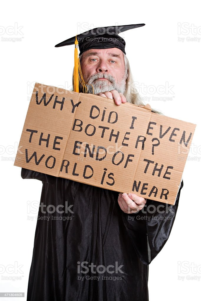 End Of The World Graduate royalty-free stock photo