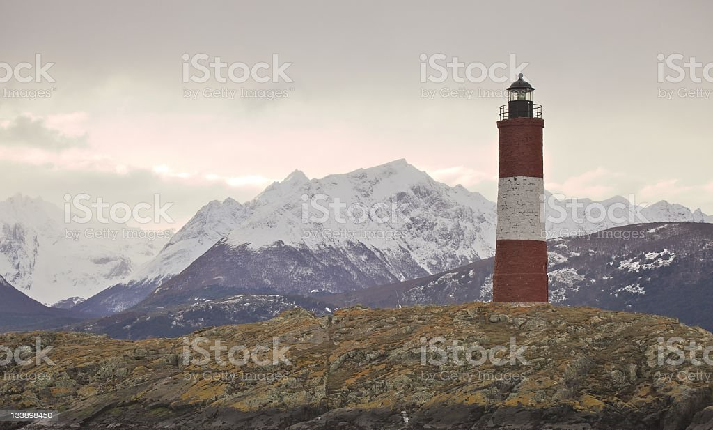 End Of The World Lighthouse royalty-free stock photo