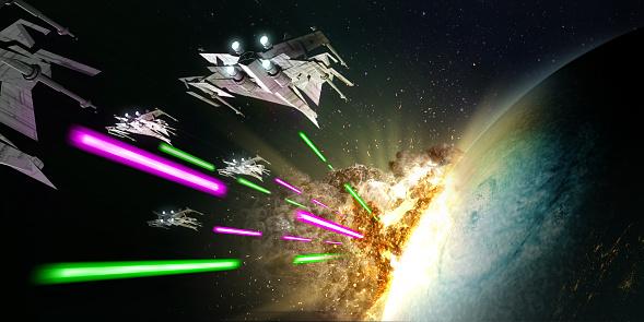 Alien invasion. Developing technology worlds can lead to interstellar war.