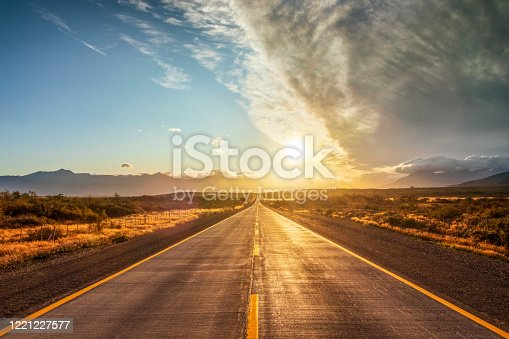 istock End of the World Street in Chile - Patagonia 1221227577