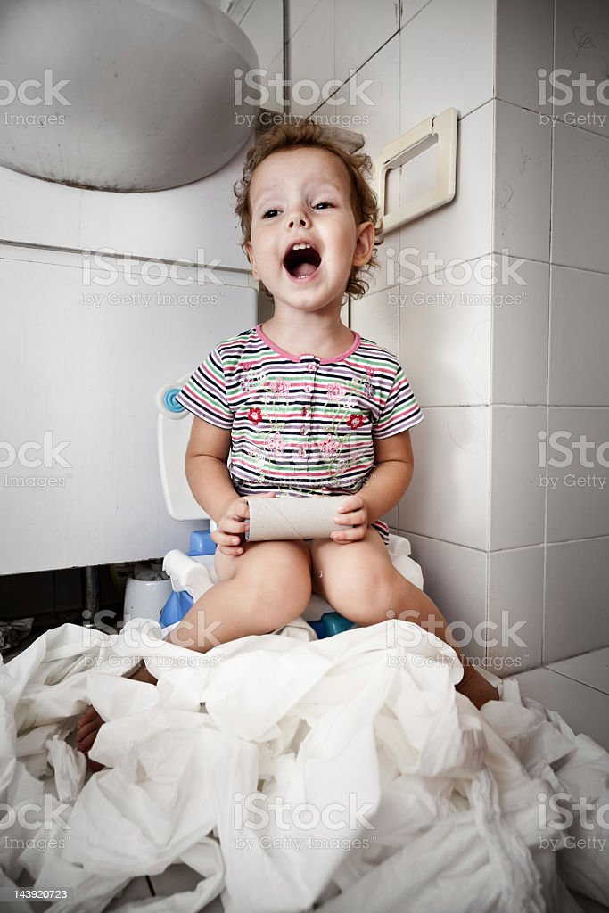 End of toilet paper royalty-free stock photo