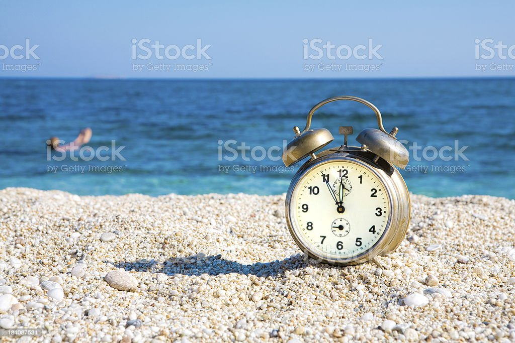 End of vacation stock photo