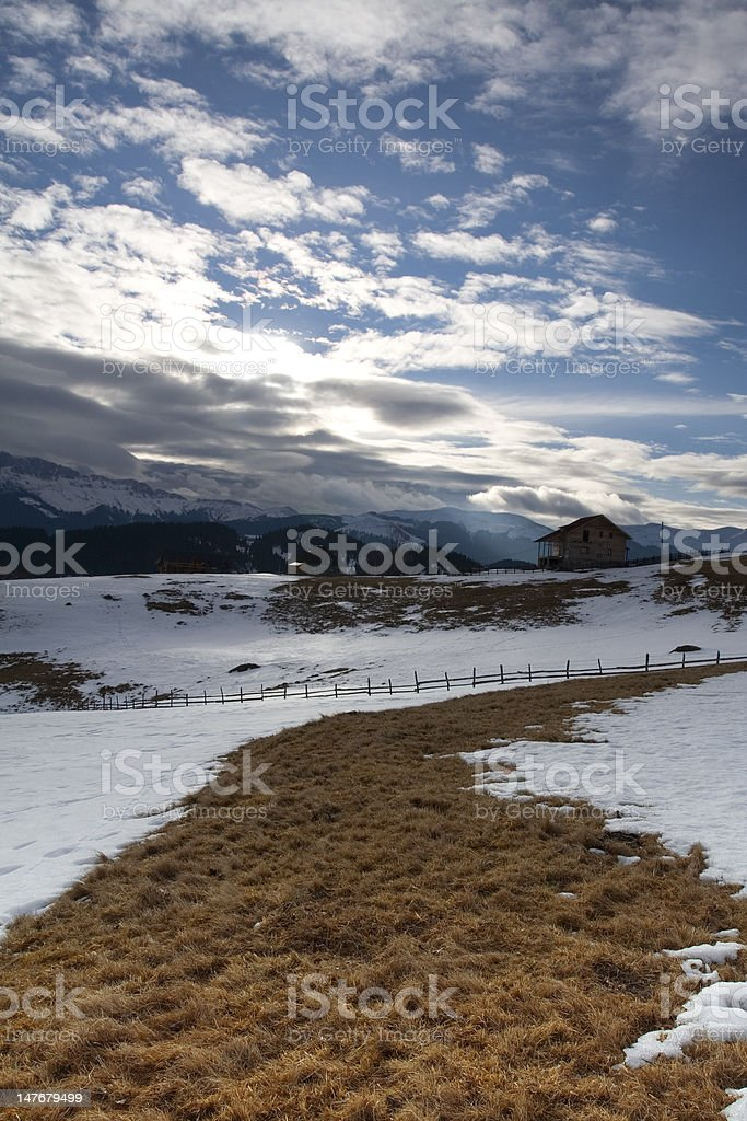 End of winter stock photo