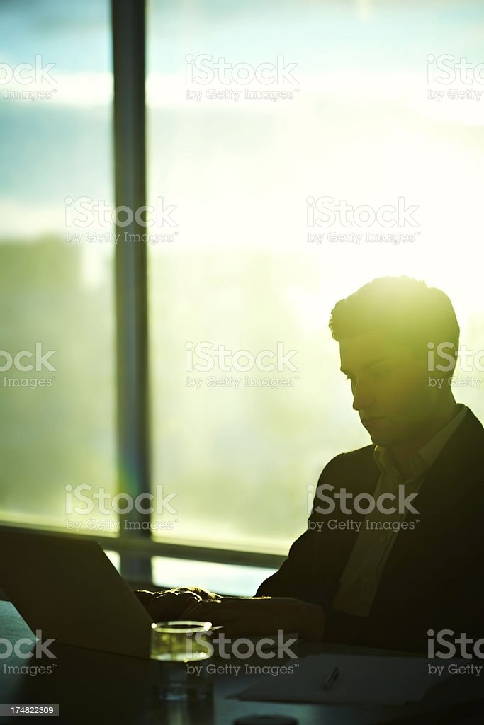 End of workday royalty-free stock photo