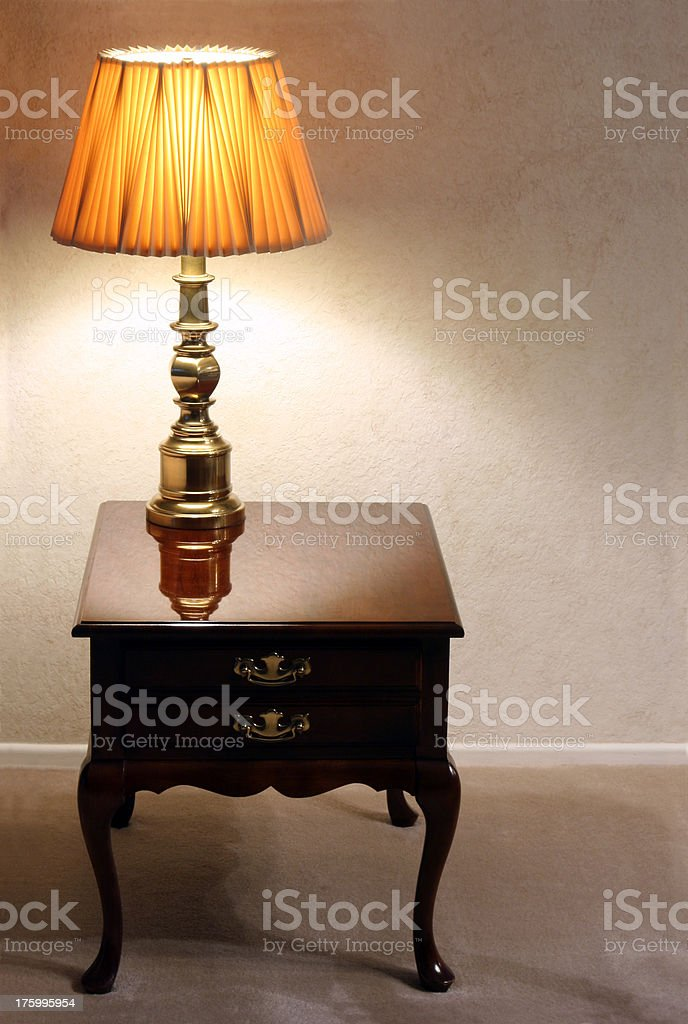 End Table and Lamp royalty-free stock photo