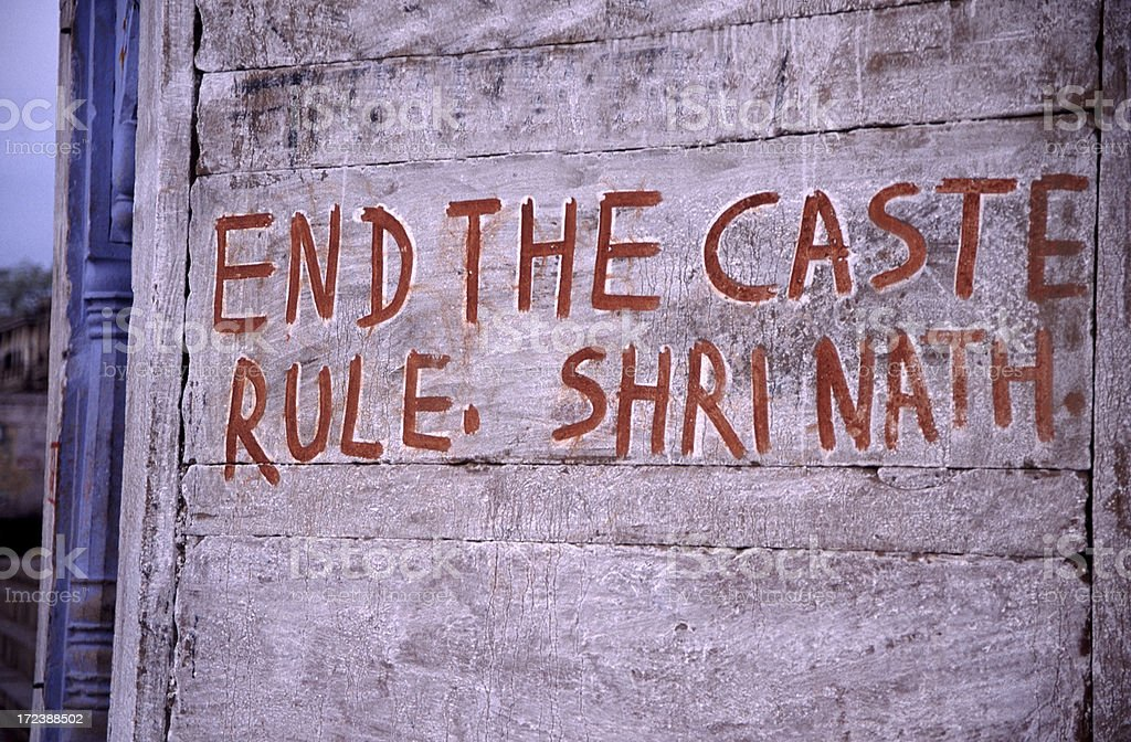 End the Caste Rule stock photo