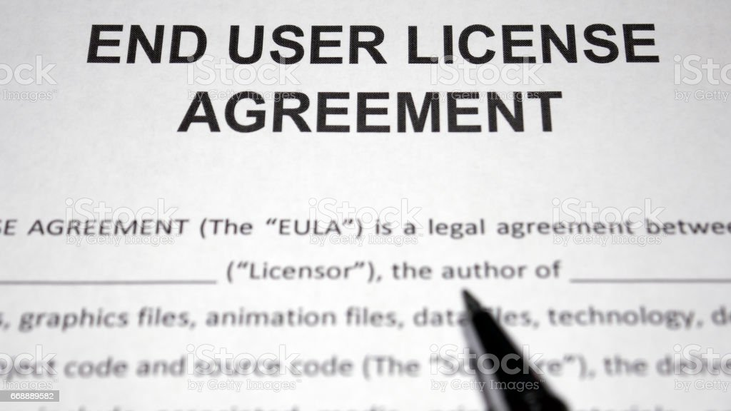 End User License Agreement Eula Stock Photo More Pictures Of