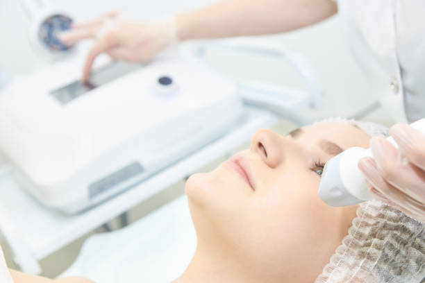 Endermolift cosmetology. Vacuum face equipment SONY DSC radio frequency identification stock pictures, royalty-free photos & images