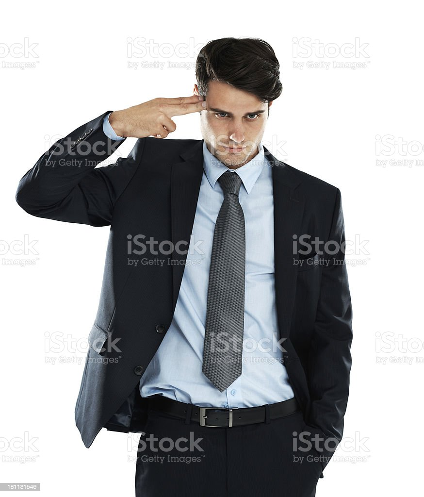 Ending his life as a businessman royalty-free stock photo