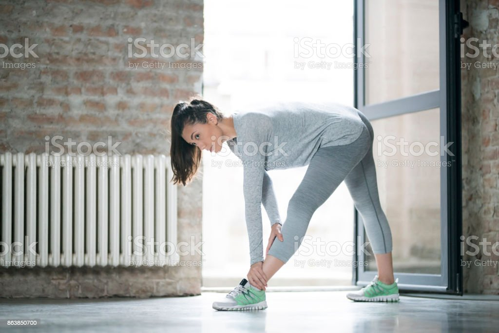 Ending Today's Training stock photo