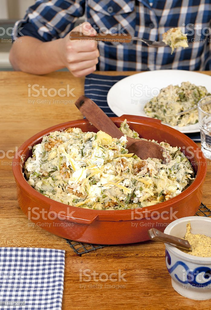endive stew stock photo