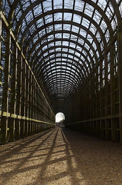 Endless arches stock photo