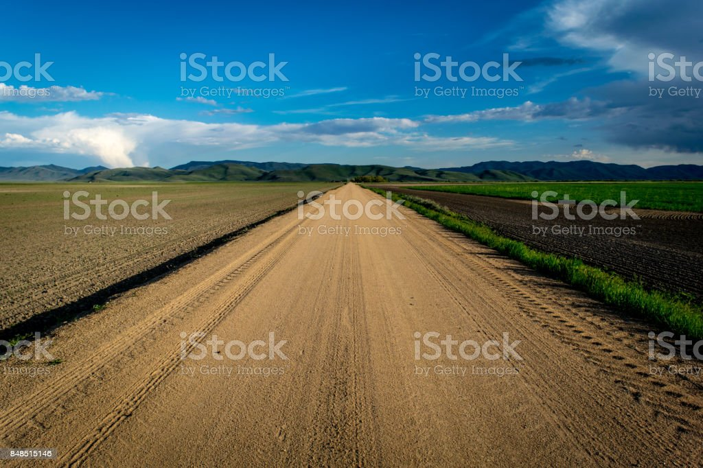 Endless Dirt Road stock photo