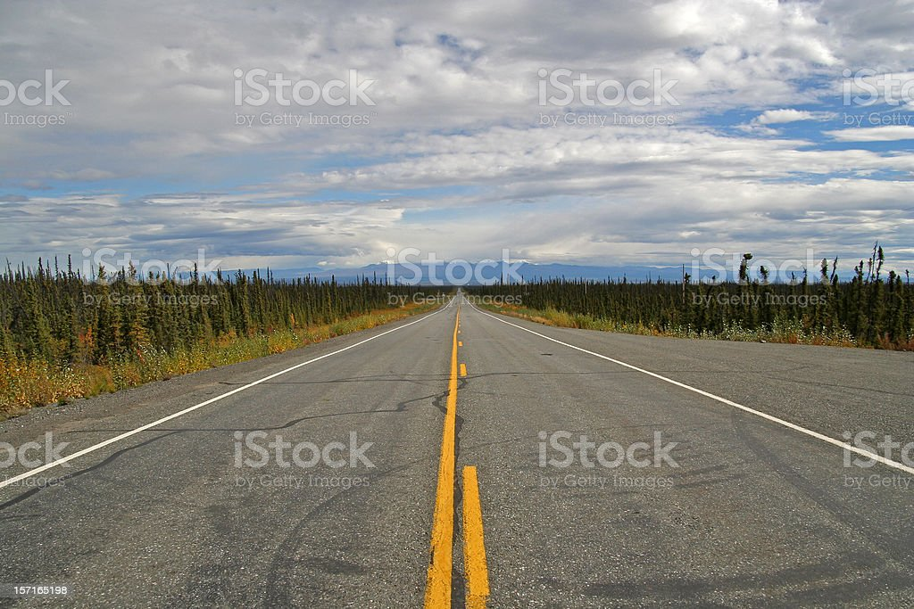 Endless highway 3 royalty-free stock photo